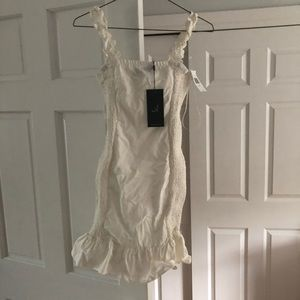 BRAND NEW WITH TAGS WHITE DRESS